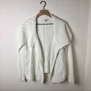 CABI Cable Knit Open Cardigan